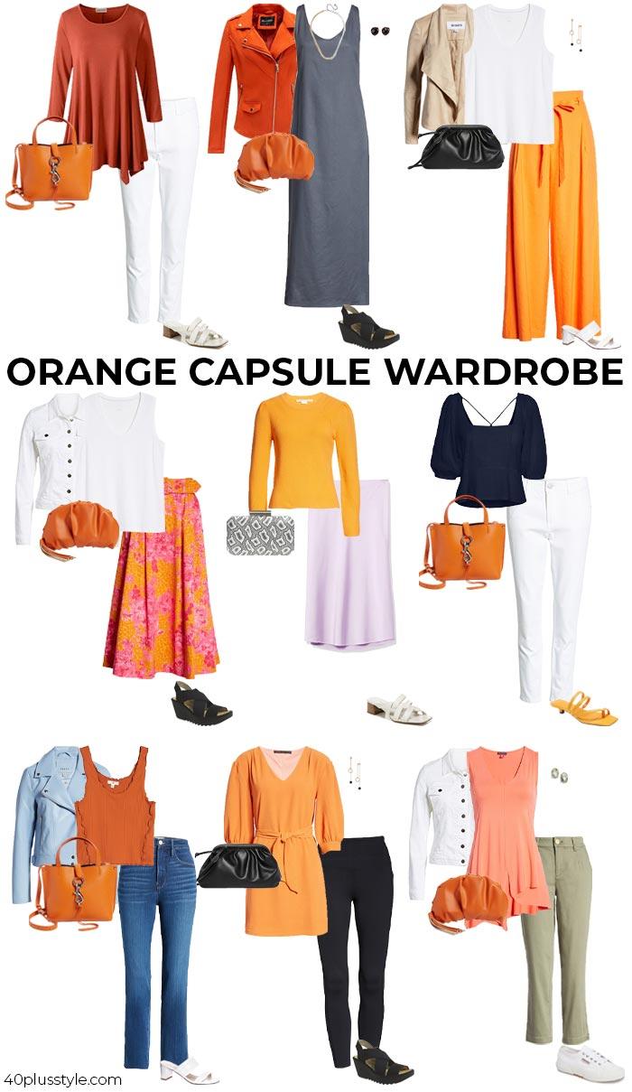 An orange capsule wardrobe   40plusstyle.com