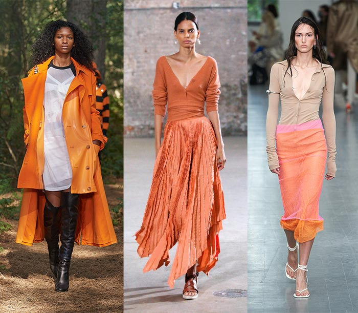 Orange outfits on the spring and summer 2021 catwalks   40plusstyle.com