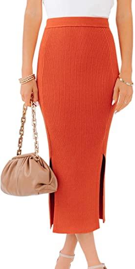 Theenkoln high waist pencil skirt | 40plusstyle.com