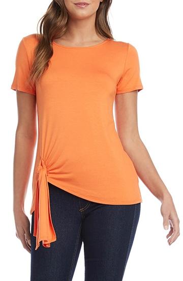 Karen Kane tie hem T-shirt   40plusstyle.com