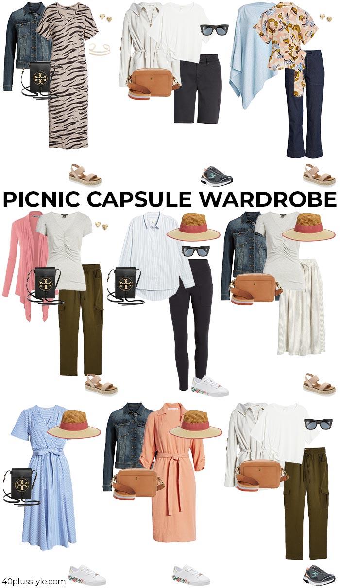 Picnic capsule wardrobe   40plusstyle.com