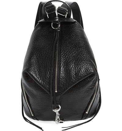 Rebecca Minkoff leather backpack | 40plusstyle.com