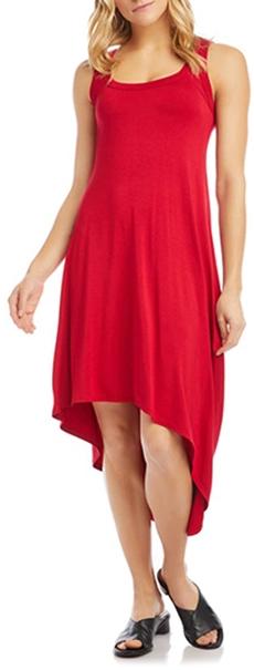 Karen Kane Sleeveless Asymmetrical Hem Dress   40plusstyle.com