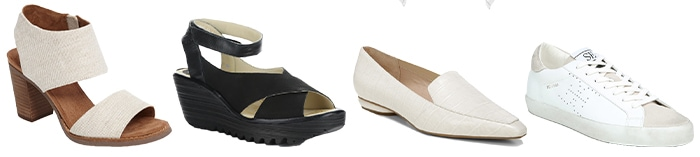 Shoes to wear for the rectangular body | 40plusstyle.com