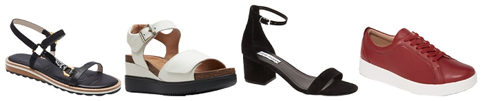 Shoes to wear with tunics and short dresses | 40plusstyle.com