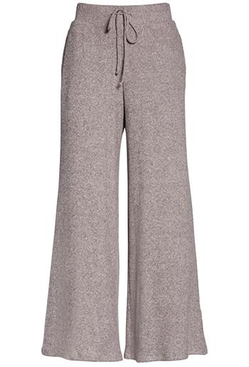 Socialite rib knit wide leg lounge pants | 40plusstyle.com