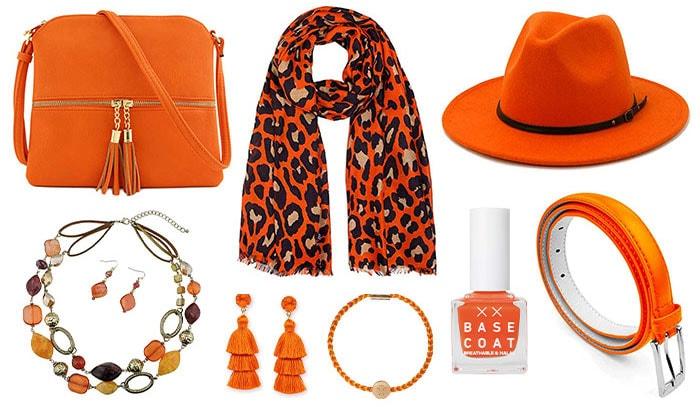 Stylish orange accesories   40plusstyle.com