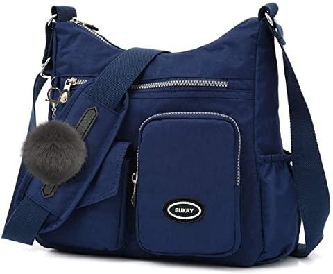 SUKRY nylon crossbody bag  with anti- theft RFID pocket | 40plusstyle.com