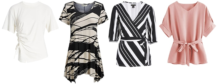 Tops for the rectangle shape body | 40plusstyle.com