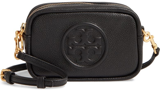 Tory Burch leather crossbody bag   40plusstyle.com