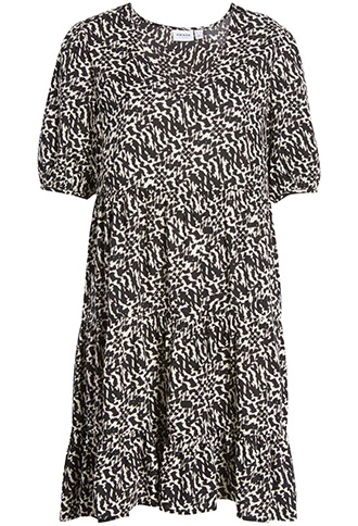 AWARE by VERO MODA print shift dress   40plusstyle.com
