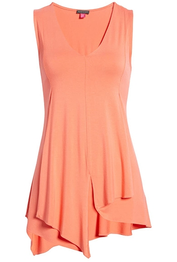 Nordstrom half yearly sale - Vince Camuto Asymmetrical Hem Tunic Top   40plusstyle.com