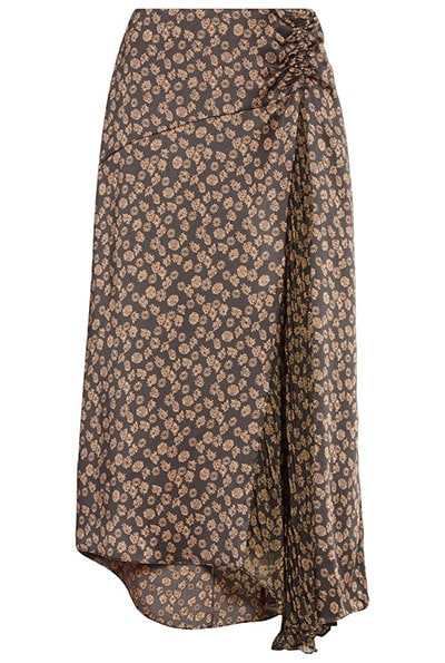 Nordstrom half yearly sale - Vince Zinnia Floral Ruched Skirt   40plusstyle.com