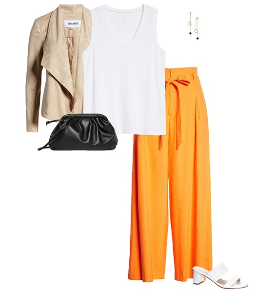 Orange and beige outfit ideas   40plusstyle.com