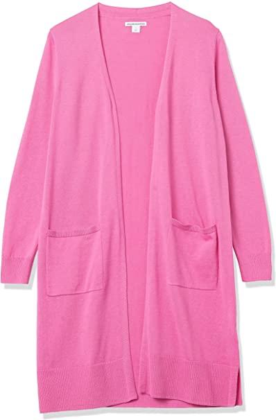 Amazon Essentials Lightweight Long-Sleeve Longer Length Cardigan | 40plusstyle.com