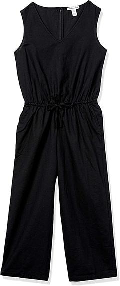 Amazon Essentials Sleeveless Linen Jumpsuit   40plusstyle.com