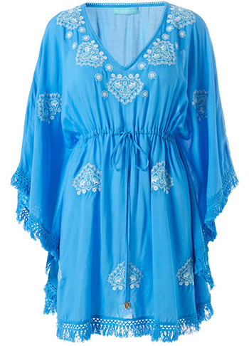 Bathing suit cover ups - Melissa Odabash cover-up caftan | 40plusstyle.com