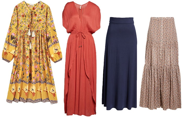 Skirts and dresses for the bohemian style personality | 40plusstyle.com