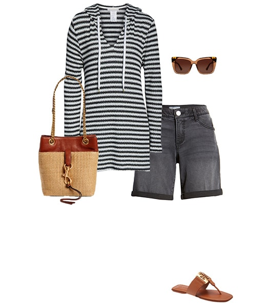 Wearing your beach cover up with shorts | 40plusstyle.com