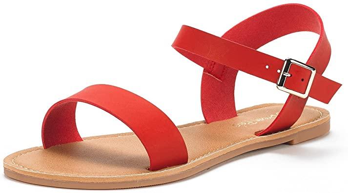 DREAM PAIRS Flat Sandals | 40plusstyle.com