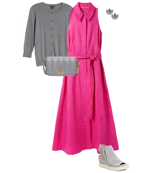 Combining gray with shocking pink   40plusstyle.com