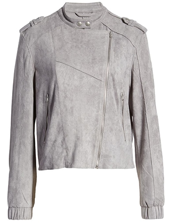 BANKNYC faux suede moto bomber   40plusstyle.com