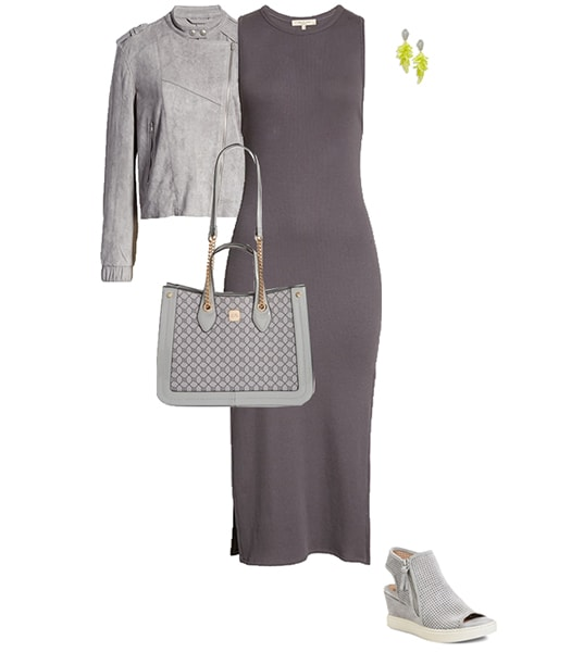 All gray outfit   40plusstyle.com