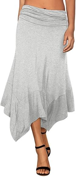 DJT handkerchief hem midi skirt   40plusstyle.com