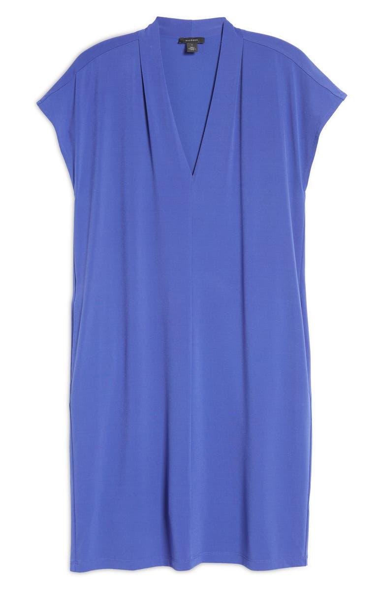 Halogen Pleat Detail Shift Dress | 40plusstyle.com