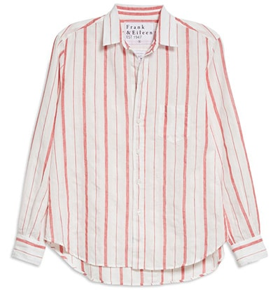 Frank & Eileen Stripe Linen Button-Up Shirt   40plusstyle.com