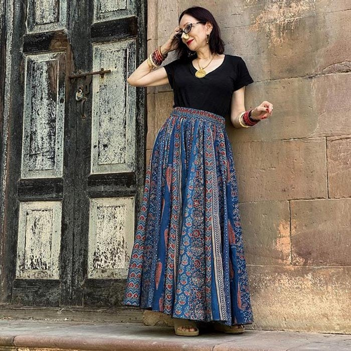 Bohemian inspired look by Lisa | 40plusstyle.com