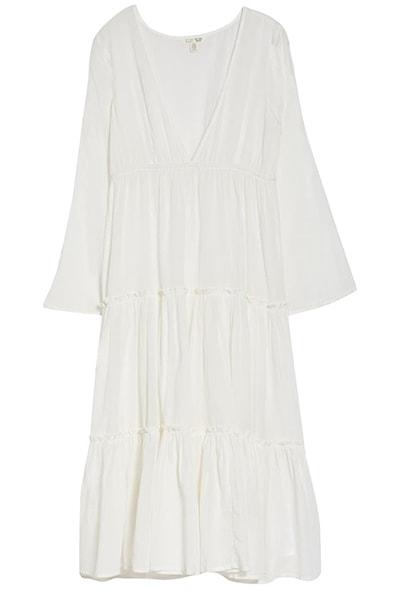 Billabong long sleeve cover-up dress | 40plusstyle.com