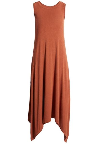 Summer dresses for women over 50 -Nordstrom Drapey Sleeveless Midi Dress | 40plusstyle.com