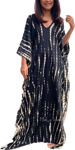 Black Tie Dye Kaftan from Etsy   40plusstyle.com
