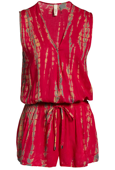Bathing suit cover ups - Elan tie dye cover-up romper | 40plusstyle.com