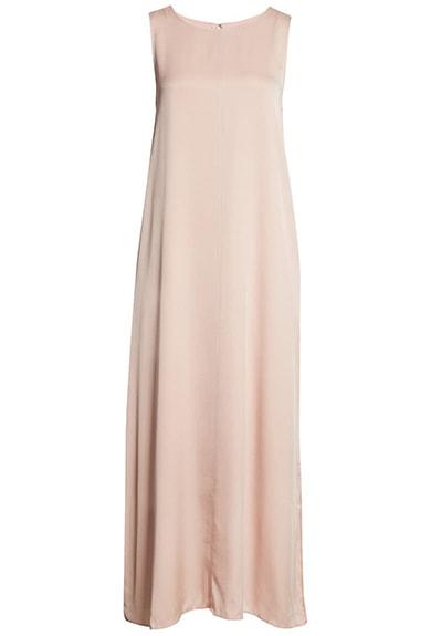Summer dresses for women over 50 -Nordstrom Signature Stretch Silk Tank Dress | 40plusstyle.com