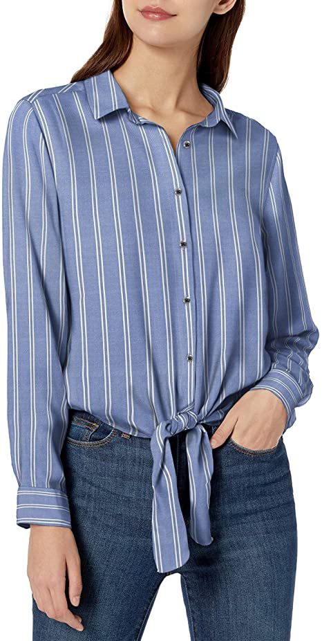 Amazon prime day - Goodthreads Modal Twill Tie-Front Shirt |  40plusstyle.com