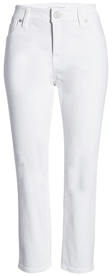 Tommy Bahama Ella Twill High Waist Crop White Jeans   40plusstyle.com