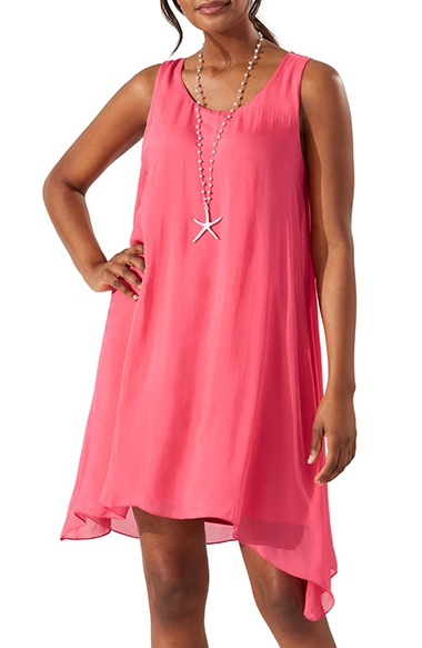 Bathing suit cover ups - Tommy Bahama sleeveless cover-up dress | 40plusstyle.com