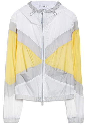 Blanc Noir Tulum Hooded Windbreaker Jacket   40plusstyle.com