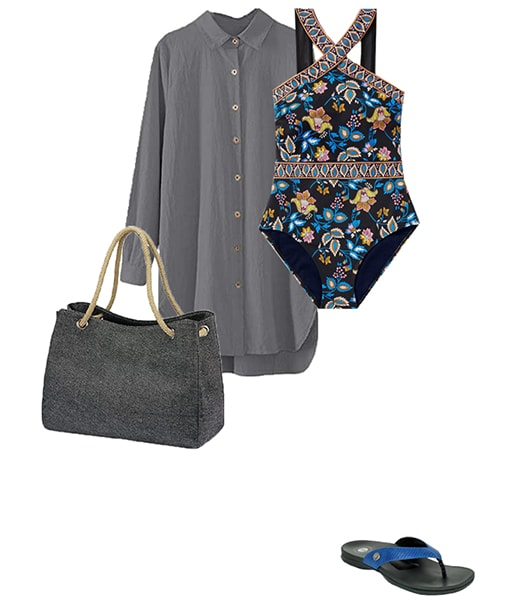 Shirt as a cover up | 40plusstyle.com