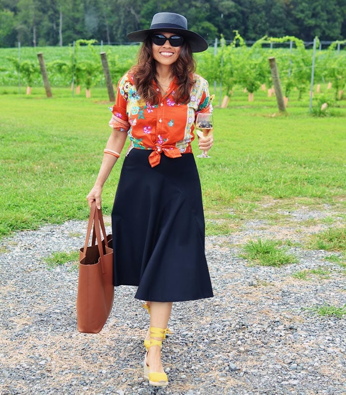 What to wear to a winery: The best winery outfits whether you love white, red or rosé | 40plusstyle.com