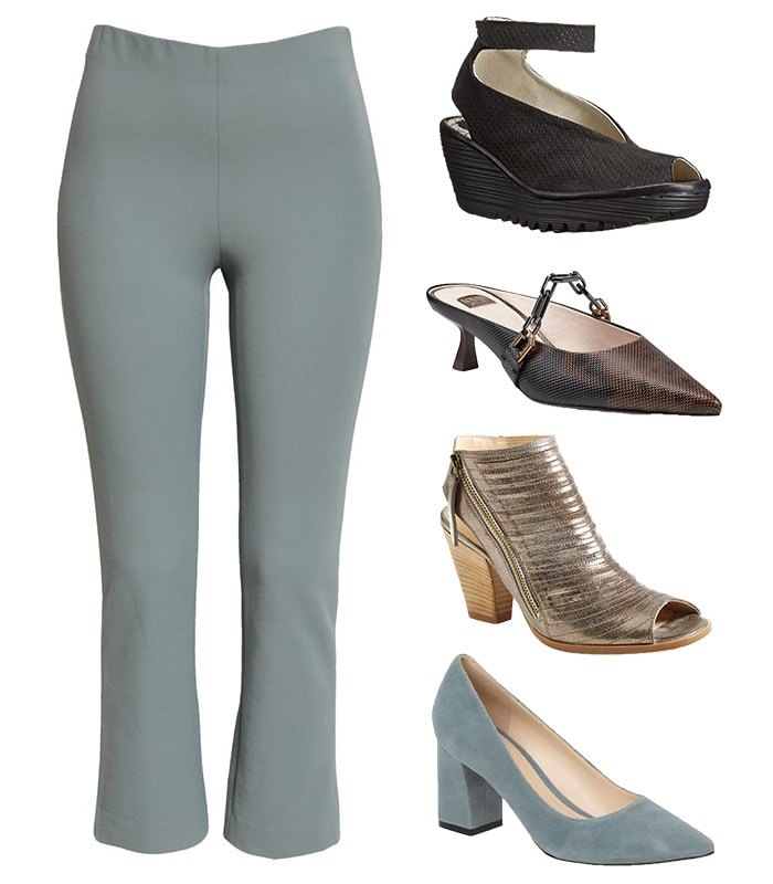 Shoes to wear with crop flare pants | 40plusstyle.com