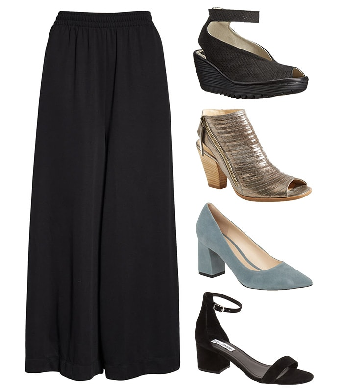 Shoes to wear with crop wide leg pants   40plusstyle.com