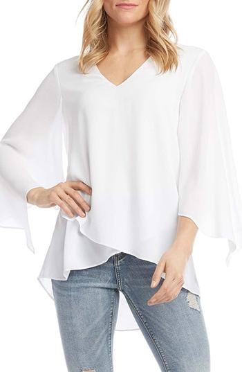 Nordstrom anniversary sale - Karen Kane Asymmetrical Angle Sleeve Blouse | 40plusstyle.com