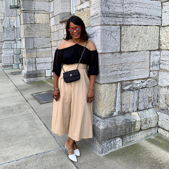 The best shoes to with cropped wide leg pants   40plusstyle.com