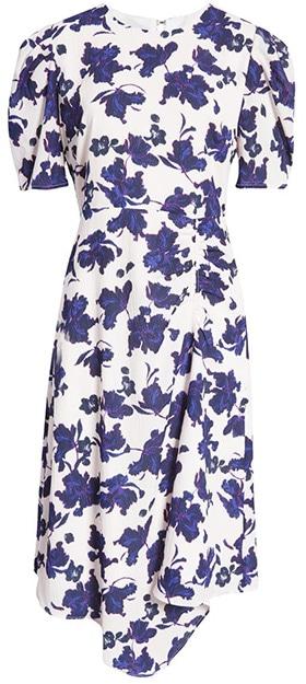 Nordstrom anniversary sale - Halogen Asymmetrical Midi Dress | 40plusstyle.com