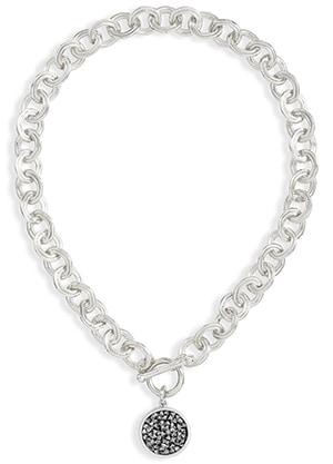 Karine Sultan crystal cluster necklace | 40plusstyle.com
