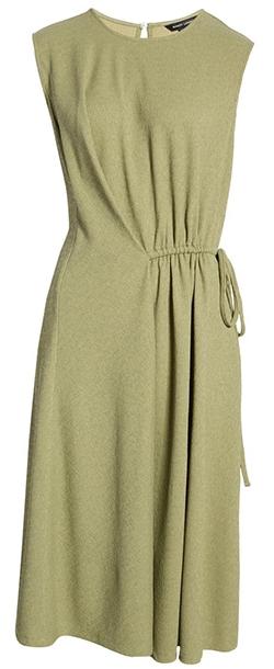 Maggy London draped dress   40plusstyle.com