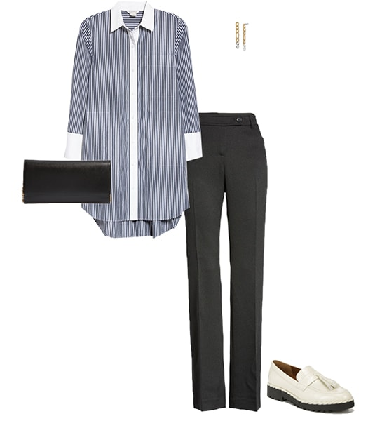 inspirado en la moda masculina - idea de traje de camisa de gran tamaño |  40plusstyle.com